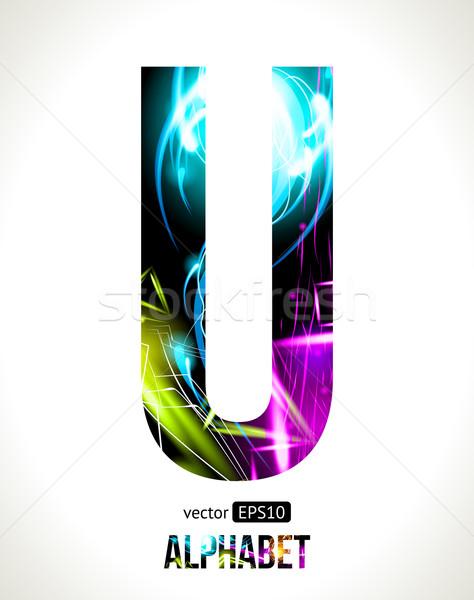 Letter U Stock photo © Designer_things