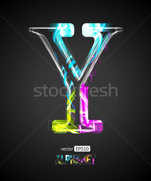 Vector ontwerp licht effect alfabet brief Stockfoto © Designer_things