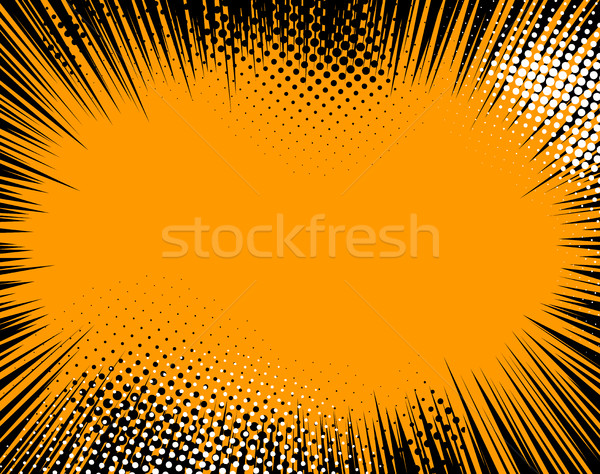 Halftoon pop art abstract pagina sjabloon Stockfoto © Designer_things