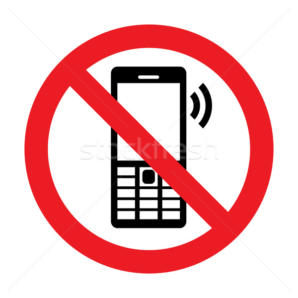 No Cell Phone Vector Sign Stock photo © Designer_things
