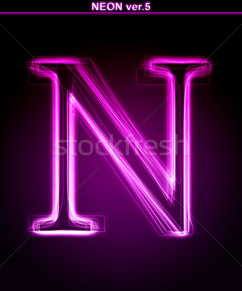 Glowing neon letter Stock photo © Designer_things