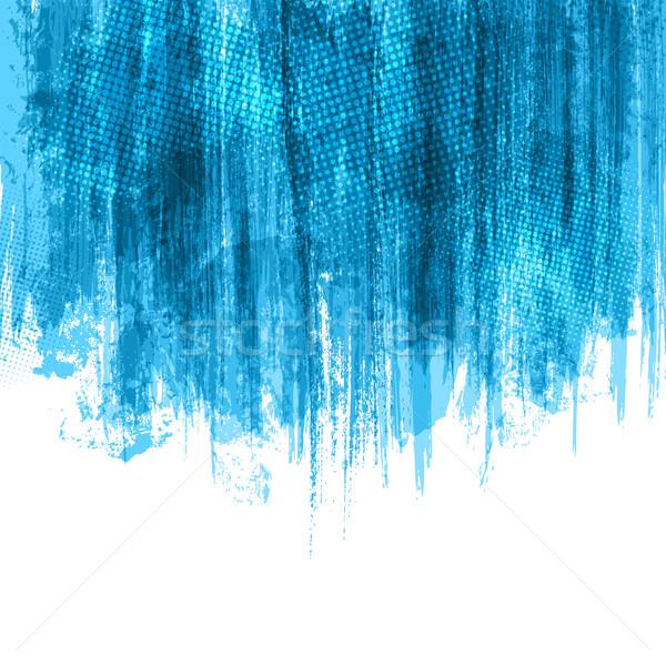 Blue Paint Splashes Background. Vector eps10 Stock photo © Designer_things