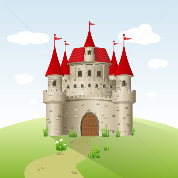 Fairy-tale castle Stock photo © Designer_things