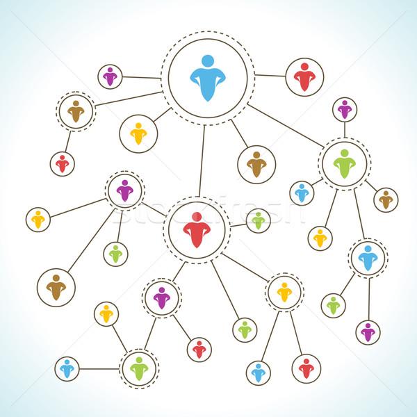 社会的ネットワーク ネットワーク マーケティング 青 グループ チーム ストックフォト © Designer_things