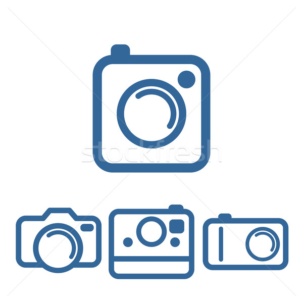 Hipsters photo camera icons Stock photo © Designer_things