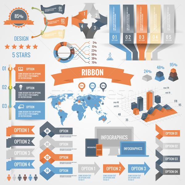 Imagine de stoc: Infografica · set · optiuni · afaceri · icoane · grafice