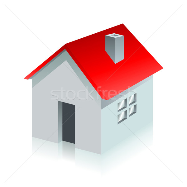 Ev sayfası simge beyaz dizayn ev Stok fotoğraf © Designer_things