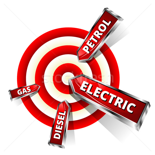 Car Fuel Achieve Objectives. Eco Concept Vector Illustration Stock photo © Designer_things