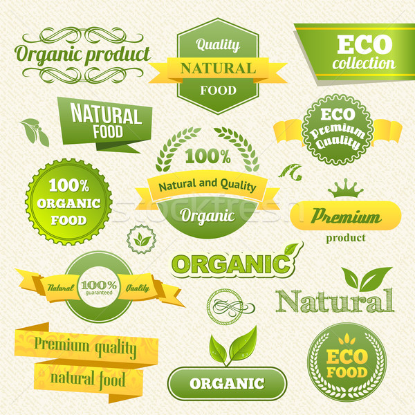 Vector Eco Stamps, Banners and Labels Stock photo © Designer_things