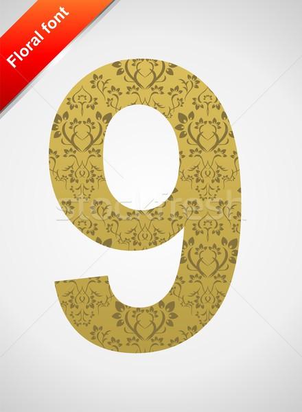 Doopvont ornament aantal geïsoleerd naadloos Stockfoto © Designer_things