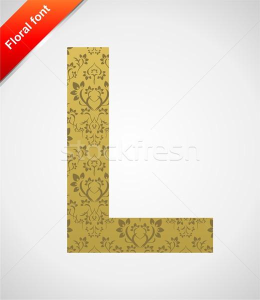 フローラル フォント 飾り 手紙 孤立した シームレス ストックフォト © Designer_things