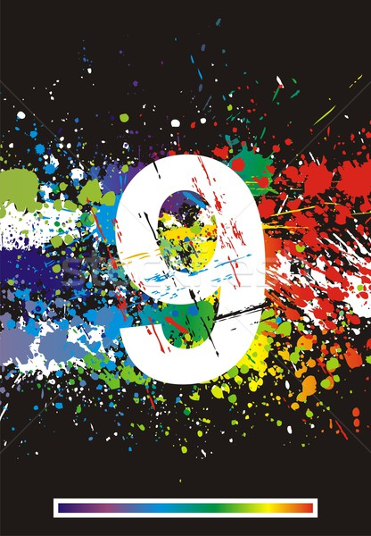 Kolor farby chrzcielnica gradient wektora Zdjęcia stock © Designer_things