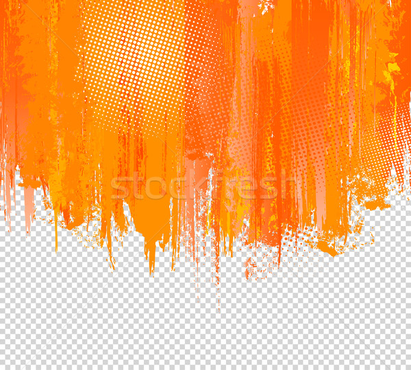 Orange Grunge Paint Splashes Background. Vector with place for your Text. Splash Graffiti Texture Ha Stock photo © Designer_things