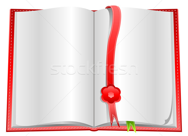 Blank open book with bookmarks Stock photo © Designer_things
