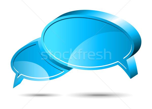 Chat box. Blue Stock photo © Designer_things