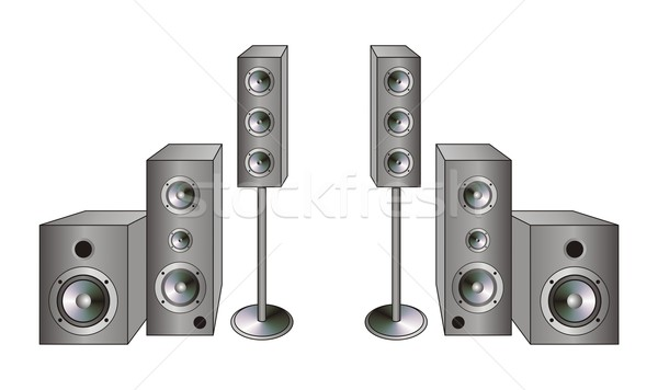 Speaker system Stock photo © Designer_things