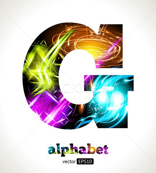 Vektör özelleştirilebilir ışık etki mektup alfabe Stok fotoğraf © Designer_things