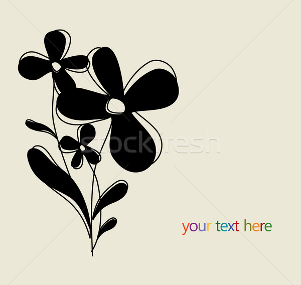Flower vector background Stock photo © Designer_things
