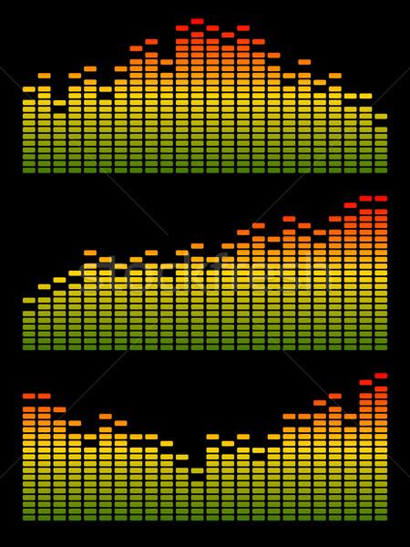 Foto stock: Vetor · digital · equalizador · volume · onda · abstrato