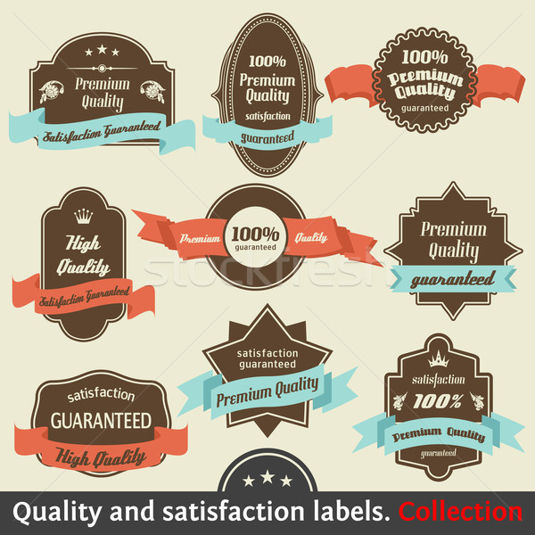 Vintage prime qualité satisfaction garantir étiquette Photo stock © Designer_things
