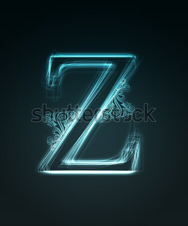 Neon letter Z Stock photo © Designer_things