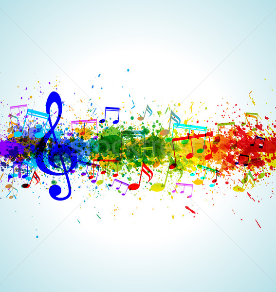 Música color pintura salpicaduras gradiente vector Foto stock © Designer_things