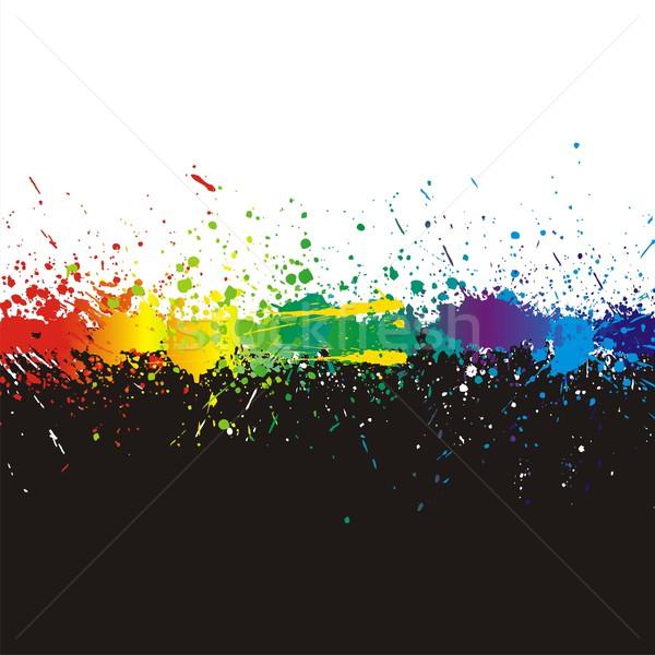 Kleur verf spatten helling lijn zwarte Stockfoto © Designer_things