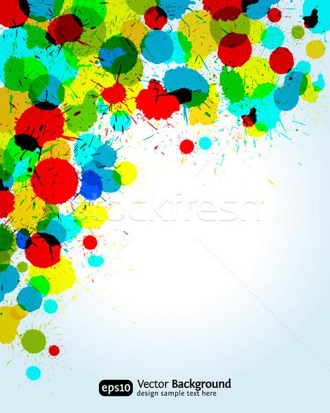 Stok fotoğraf: Renk · boya · sıçraması · köşe · eps10 · doku