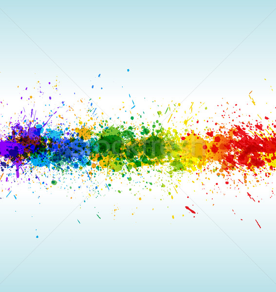 Color paint splashes. Gradient vector background Stock photo © Designer_things