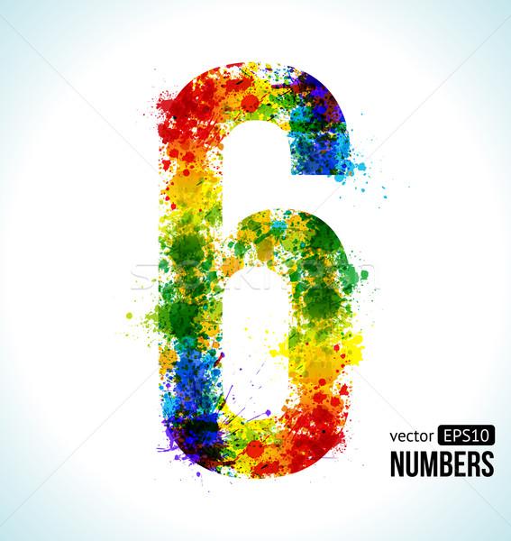 Gradient Vector Number 6 Stock photo © Designer_things