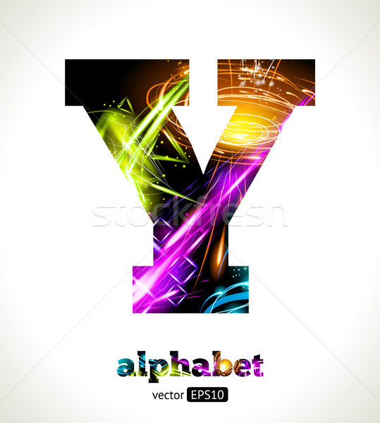 Vector Customizable Light Effect Letter Stock photo © Designer_things