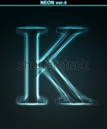 Shiny font. Glowing number 7. Stock photo © Designer_things