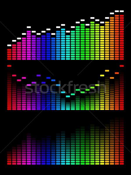 Vector digital gradient equalizer Stock photo © Designer_things