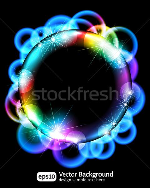 Neon light gragient effect background Stock photo © Designer_things
