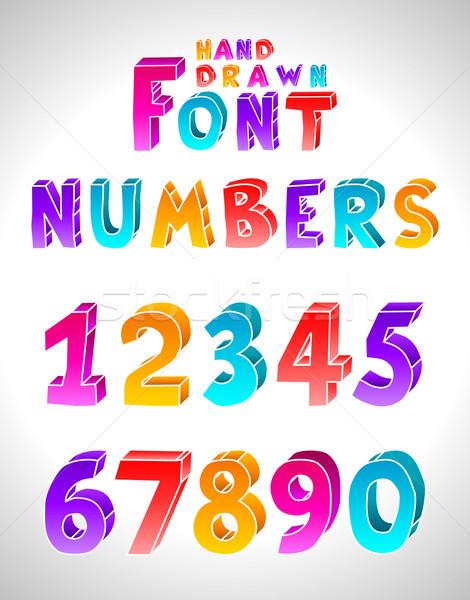 Hand drawn vector font Stock photo © Designer_things