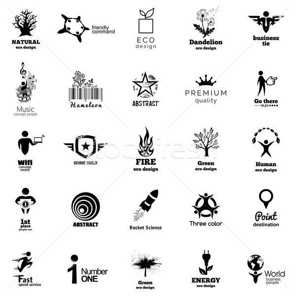 Color Corporate Icon Collection. Abstact Logo Template collection. Easy to colorize to your logotype Stock photo © Designer_things