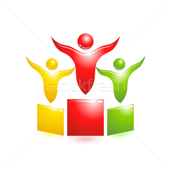 Pedestal icon. Concept vector people Stock photo © Designer_things