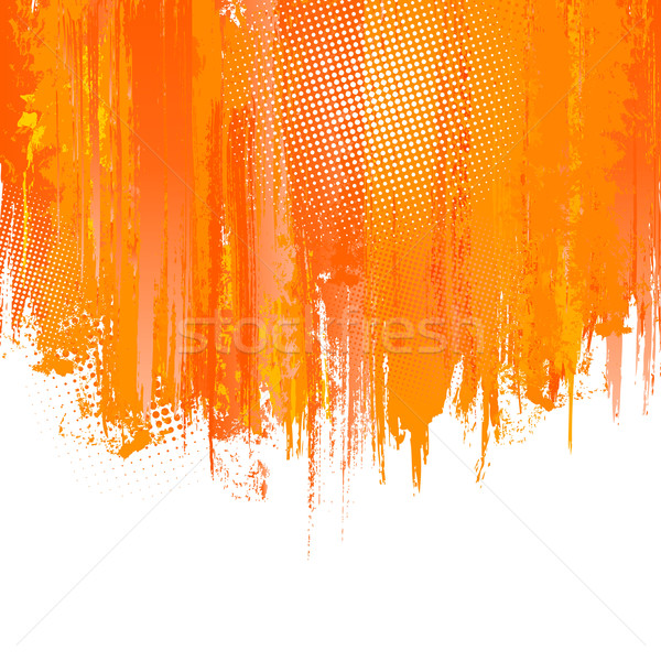 Orange paint splashes background. Vector Stock photo © Designer_things