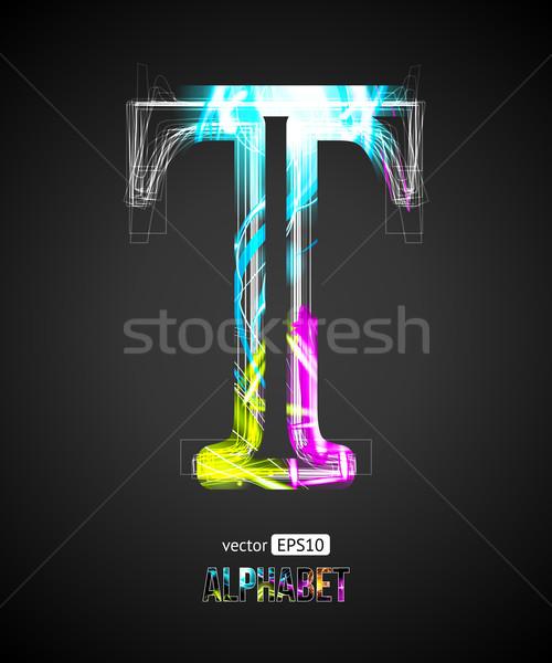 Vector ontwerp licht effect alfabet Stockfoto © Designer_things