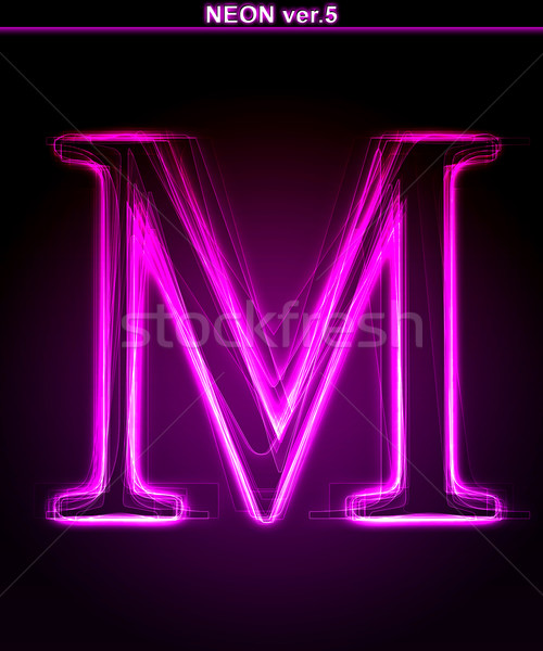 Doopvont letter m kunst brief Stockfoto © Designer_things
