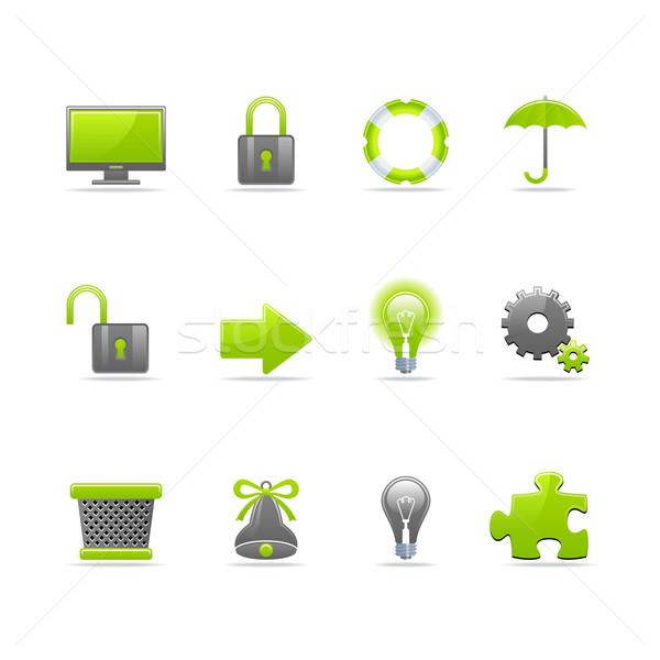 Conjunto 12 os ícones do web ver Foto stock © Designer_things