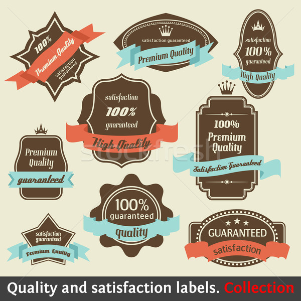 Vintage Premium Quality and Satisfaction Guarantee Label collect Stock photo © Designer_things