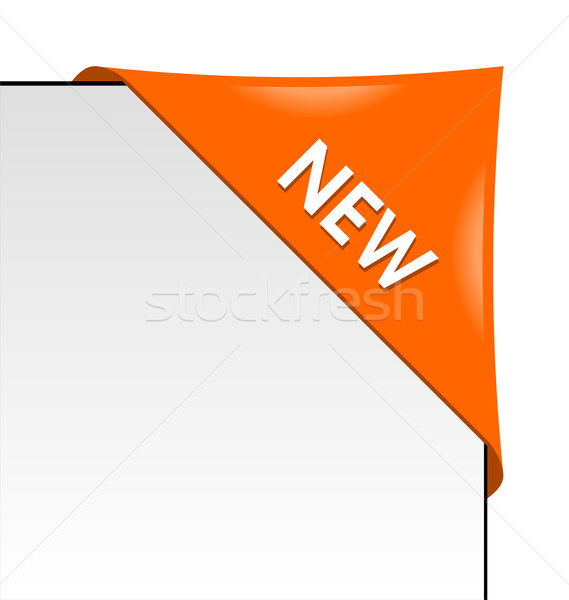 Neue orange Ecke Business Band weiß Stock foto © Designer_things