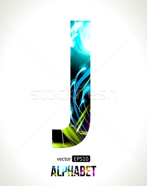 Letter J Stock photo © Designer_things