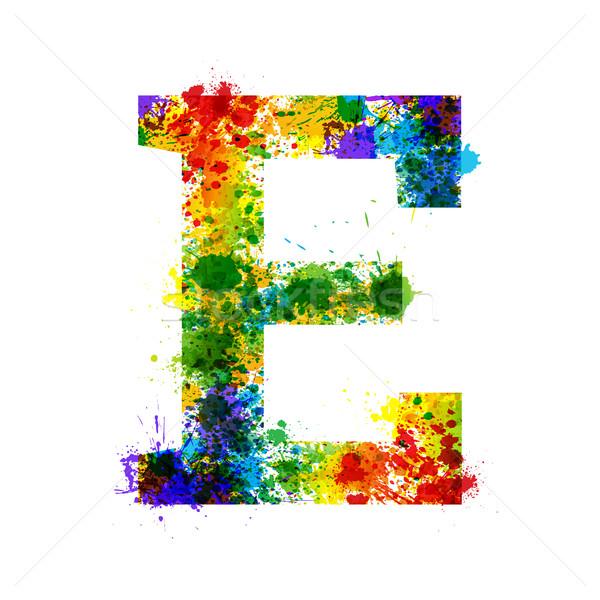Stock fotó: Szín · festék · csobbanások · gradiens · vektor · betűtípus