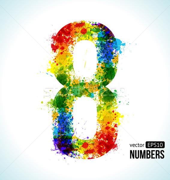 Helling vector aantal kleur verf spatten Stockfoto © Designer_things