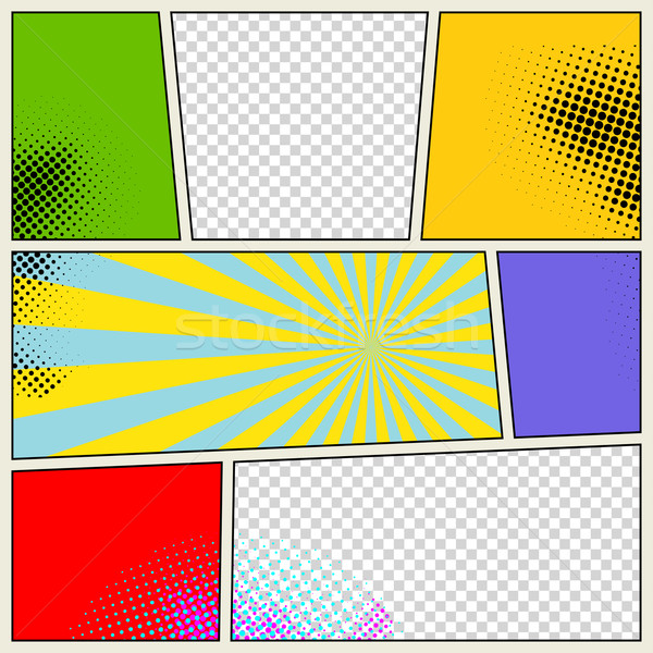Retro Comic Book Vector Background Stock photo © Designer_things