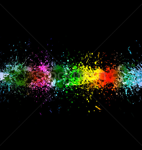 Eps 10 color paint splashes. Gradient vector background Stock photo © Designer_things