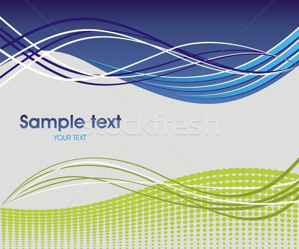 Dynamic wave background Stock photo © Designer_things