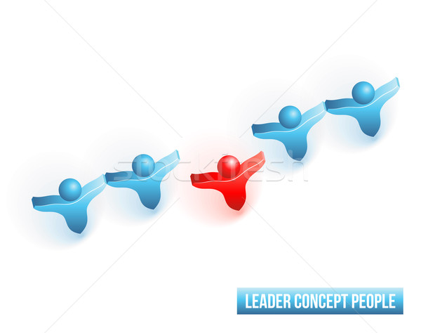 Leader concept people Stock photo © Designer_things